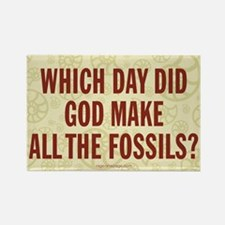 Which Day Did God Make Fossils? Rectangle Magnet (