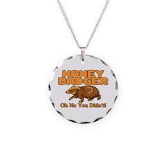 Oh No Honey Badger Necklace