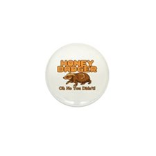 Oh No Honey Badger Mini Button (10 pack)