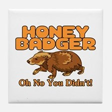 Oh No Honey Badger Tile Coaster