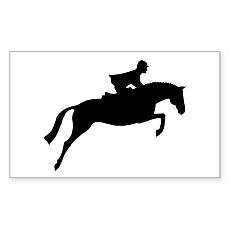 h/j horse & rider Rectangle Sticker