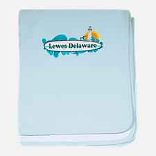 Lewes Beach DE - Surf Design baby blanket