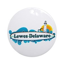 Lewes Beach DE - Surf Design Ornament (Round)
