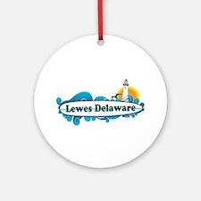 Lewes Beach DE - Surf Design Ornament (Round)