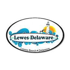 Lewes Beach DE - Surf Design 38.5 x 24.5 Oval Wall
