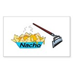 Nacho Hoe Sticker (Rectangle 50 pk)