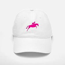 h/j horse & rider pink Baseball Baseball Cap