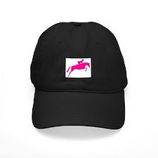 h/j horse & rider pink Baseball Hat