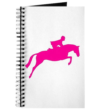 h/j horse & rider pink Journal
