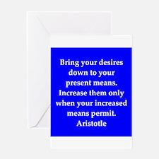Wisdom of Aristotle Greeting Card