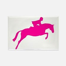 h/j horse & rider pink Rectangle Magnet