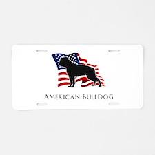"""American"" Bulldog Aluminum License Plate"