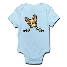 Frenchie Eating Pocket Infant Bodysuit