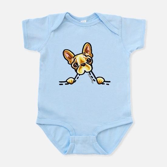 Frenchie Eating Pocket Infant Bodysuit