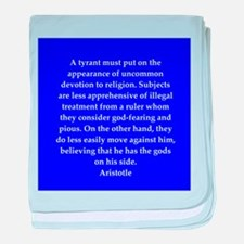 Wisdom of Aristotle baby blanket
