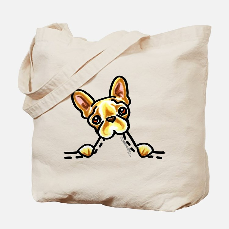 Frenchie Eating Pocket Tote Bag