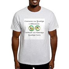 Cumann na Gaeilge i mBoston Ash Grey T-Shirt