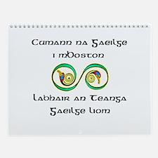 Cumann na Gaeilge i mBoston Wall Calendar