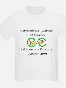 Cumann na Gaeilge i mBoston Kids T-Shirt