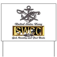 USN Navy SWCC Boat Operator Yard Sign