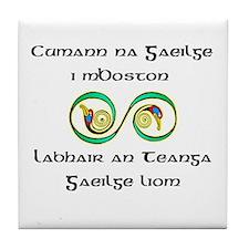 Cumann na Gaeilge i mBoston Tile Coaster
