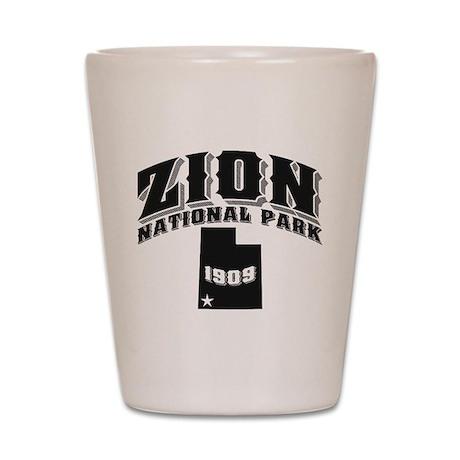 Zion Old Style Black Shot Glass