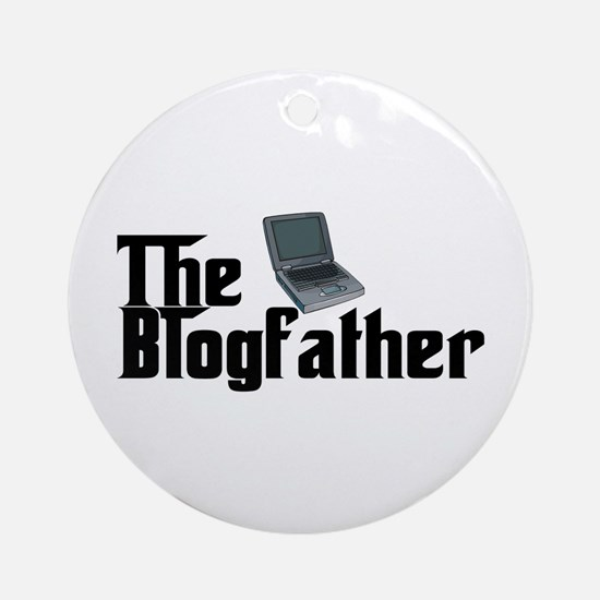 The Blogfather Ornament (Round)