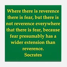 Wisdom of Socrates Tile Coaster