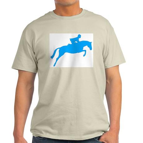 h/j horse & rider blue Ash Grey T-Shirt