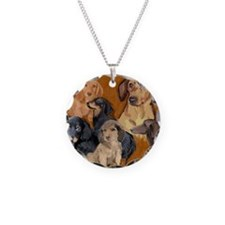 dachshund mural Necklace