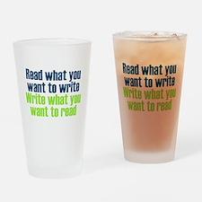 Read & Write Drinking Glass
