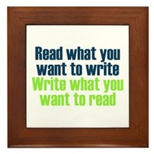 Read & Write Framed Tile
