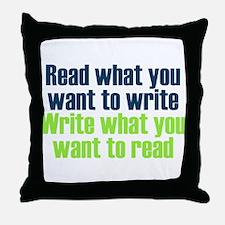 Read & Write Throw Pillow