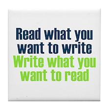 Read & Write Tile Coaster