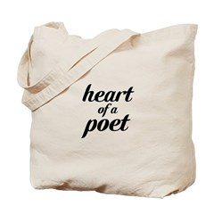 heart of a poet Tote Bag