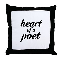 heart of a poet Throw Pillow
