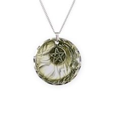 Penticle Moon Star Necklace Circle Charm