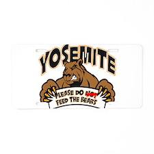 "Yosemite ""Feed The Bears"" Aluminum License Plate"