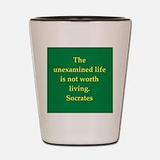 Wisdom of Socrates Shot Glass