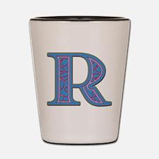 R Blue Glass Shot Glass