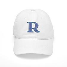 R Blue Glass Baseball Cap