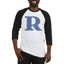 R Blue Glass Baseball Jersey