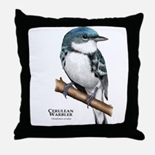Cerulean Warbler Throw Pillow