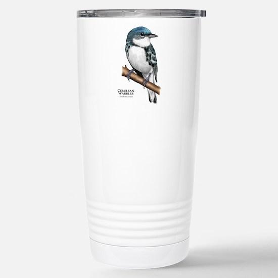 Cerulean Warbler Stainless Steel Travel Mug
