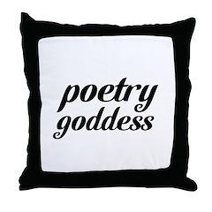 poetry goddess Throw Pillow