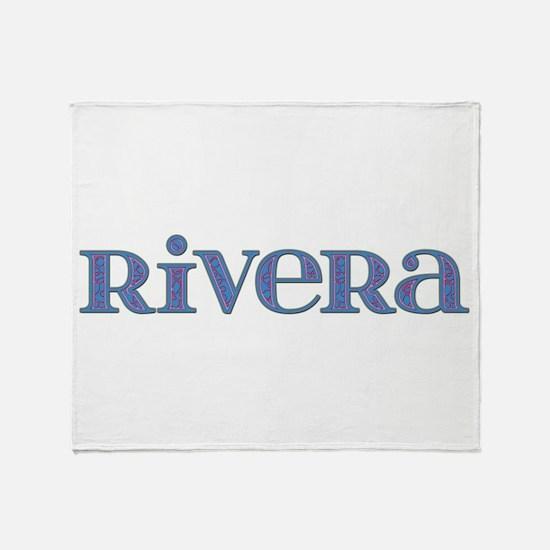 Rivera Blue Glass Throw Blanket