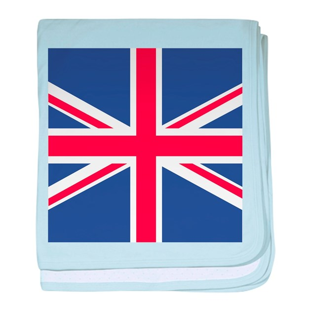 UNION JACK UK BRITISH FLAG Baby Blanket By Tinyninjas