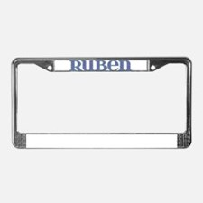 Ruben Blue Glass License Plate Frame