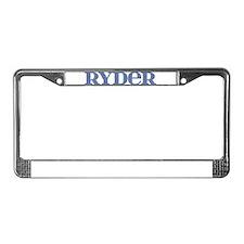 Ryder Blue Glass License Plate Frame