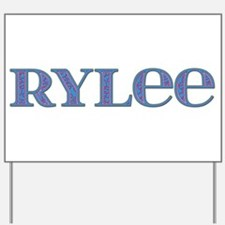 Rylee Blue Glass Yard Sign
